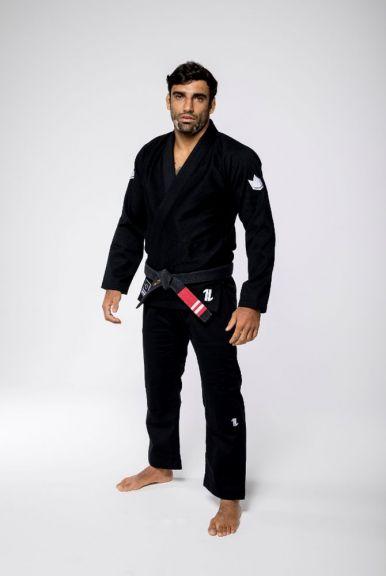 Kimono de JJB Kingz The One (ceinture blanche offerte) - Noir