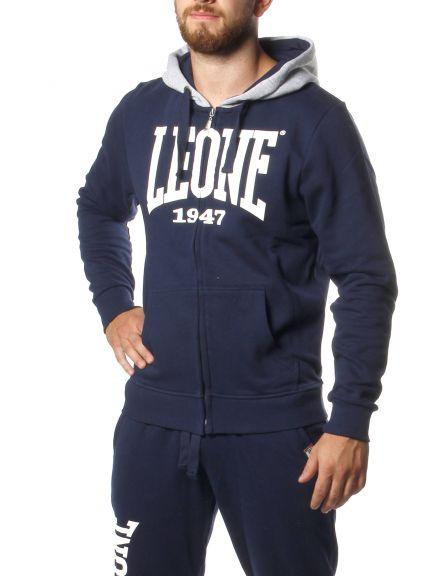 Sweatshirt à zip Leone - Bleu marine
