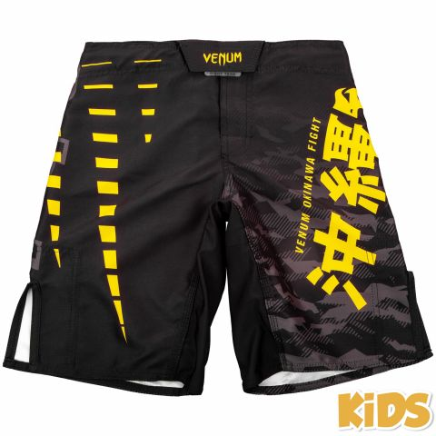 Fightshort Enfant Venum Okinawa 2.0 Kids - Noir/Jaune - Exclusivité