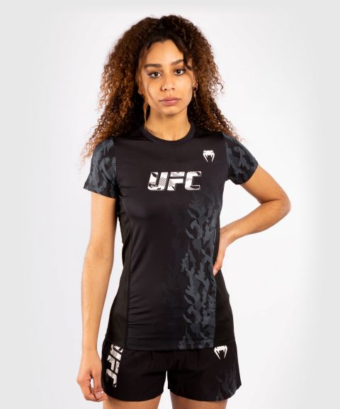 T-shirt Technique Manches Courtes Femme UFC Venum Authentic Fight Week - Noir