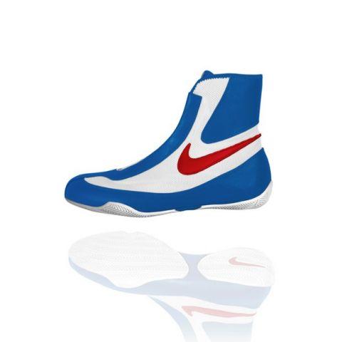 Chaussures de boxe Nike semi-montantes Machomai - Bleu/Blanc/Rouge