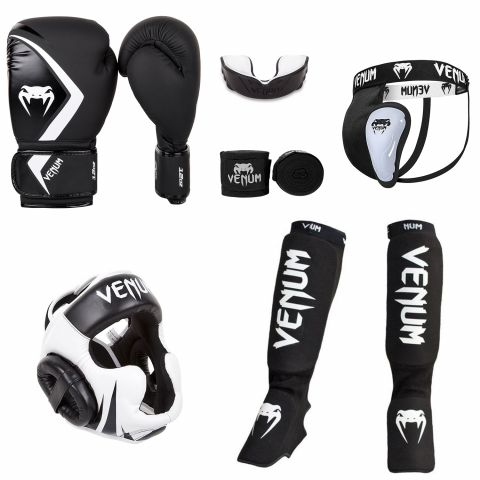 Pack pieds-poings Contender Noir/Blanc