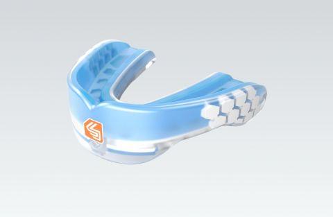 "Protège-dents Shock Doctor ""Nano""- Transparent/Bleu"
