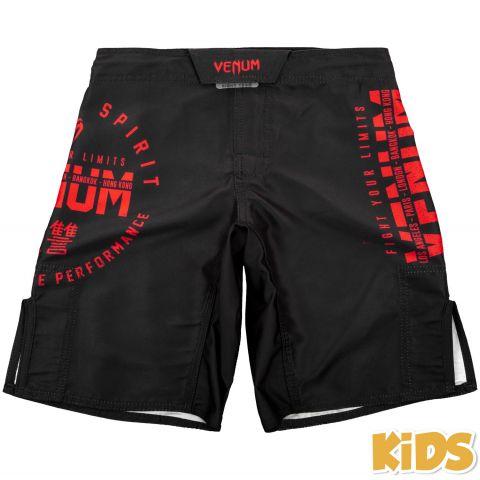 Fightshort Enfant Venum Signature Kids - Noir/Rouge