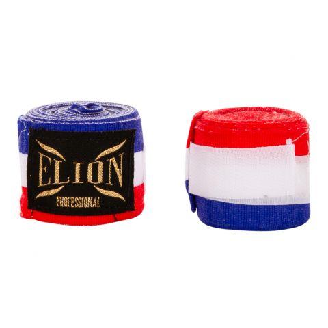 Bandages de boxe Pro Elion - 4,5 mètres - Bleu/Blanc/Rouge
