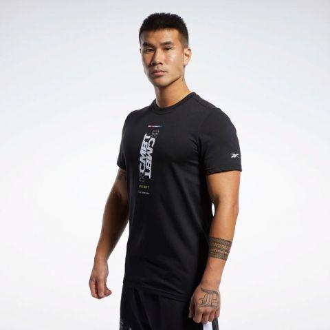 T-Shirt Reebok CMBT Wordmark - Noir - Noir