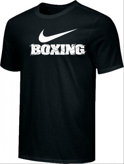 T-shirt d'entraînement Nike - BOXING - Noir/Blanc