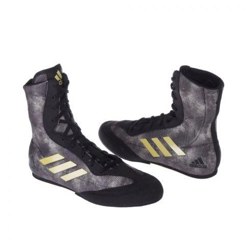 Chaussures de boxe Adidas Box Hog Plus - Noir/Doré