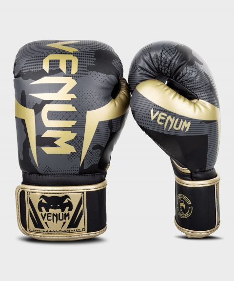 Gants de boxe Venum Elite - Dark Camo/Or
