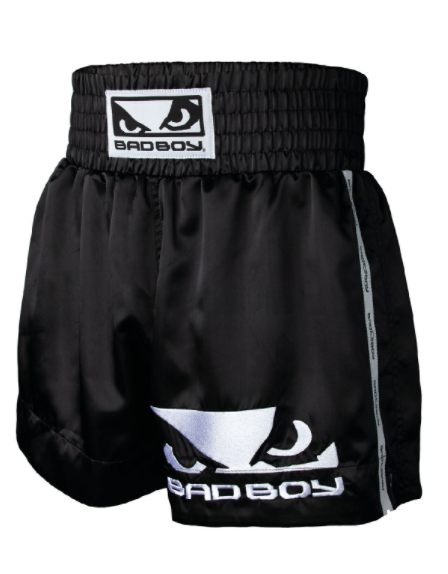 Short de Muay Thai Bad Boy - Noir/Blanc