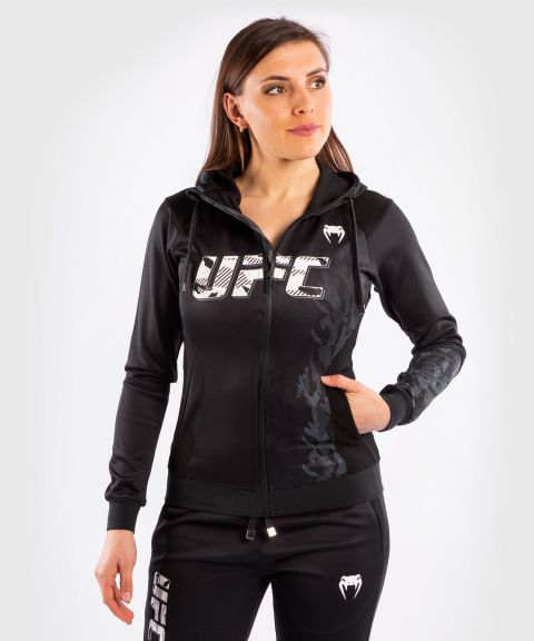 Sweatshirt Zippé Femme UFC Venum Authentic Fight Week - Noir