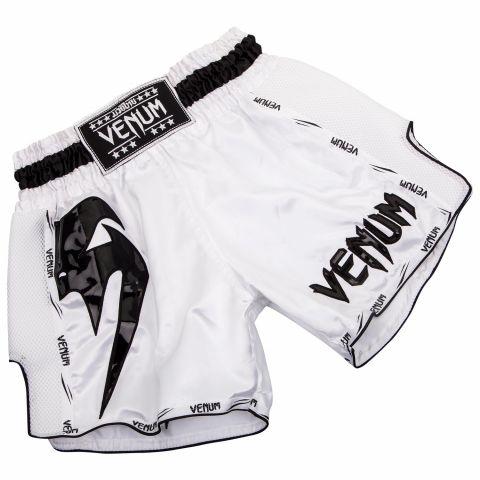 Short de Muay Thai Venum Giant - Blanc/Noir