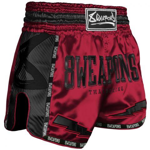 Short de Muay Thai Carbon - Rouge