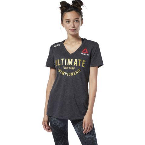 T-shirt Femme Reebok UFC Fight Night CHAMP - Noir
