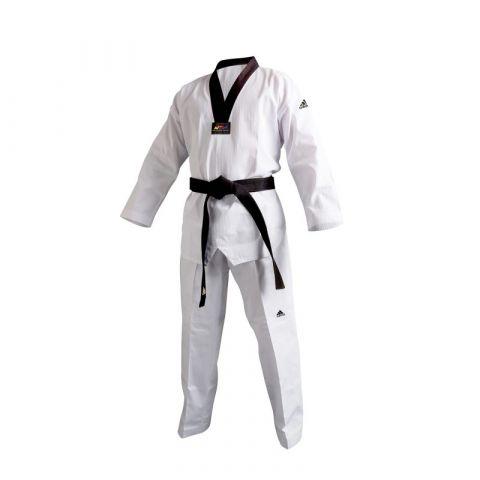 Dobok Taekwondo Adidas Champion II - col noir