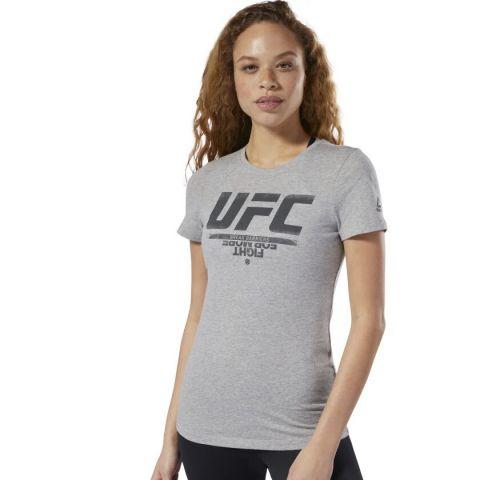 T-shirt Femme Reebok UFC Fan Gear - Gris