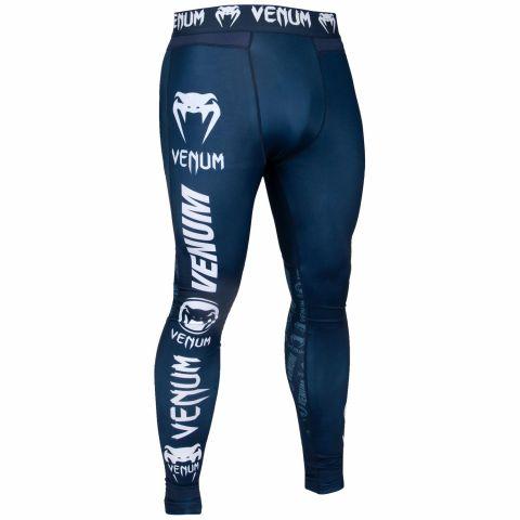Pantalon de compression Venum Logos - Bleu marine/Blanc