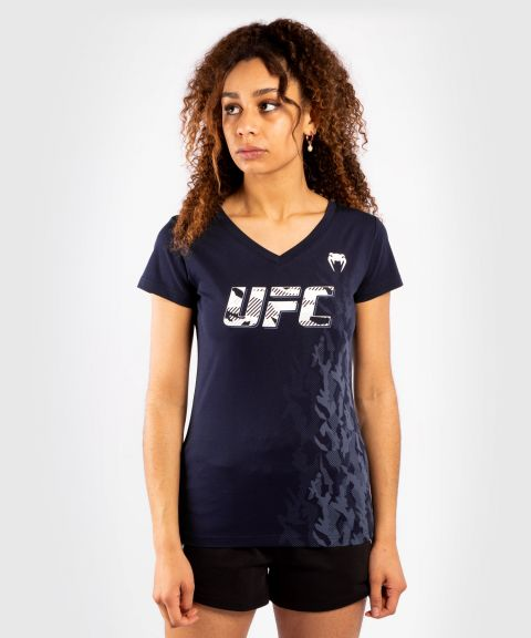 T-shirt Manches Courtes Femme UFC Venum Authentic Fight Week - Bleu Marine