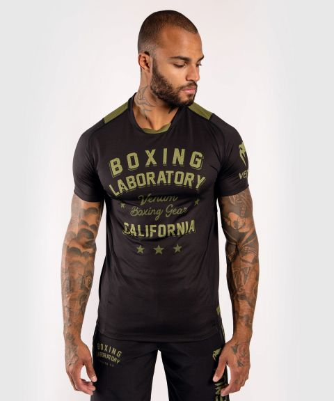 T-Shirt Dry Tech Venum Boxing Lab - Noir/Vert