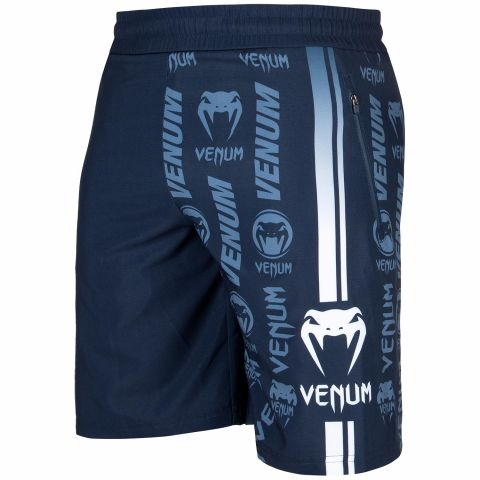 Short de sport Venum Logos - Bleu marine/Blanc