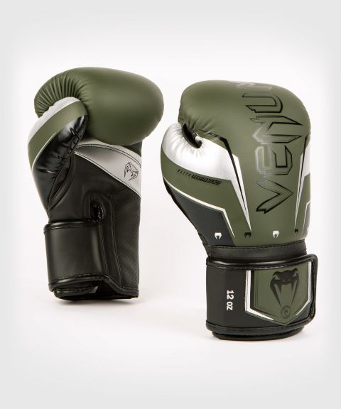 Gants de Boxe Venum Elite Evo - Kaki/Argent