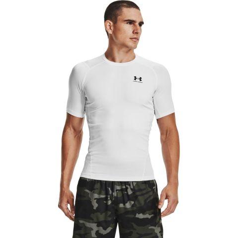 T-shirt Under Armour HeatGear® Armour - Manches Courtes - Blanc