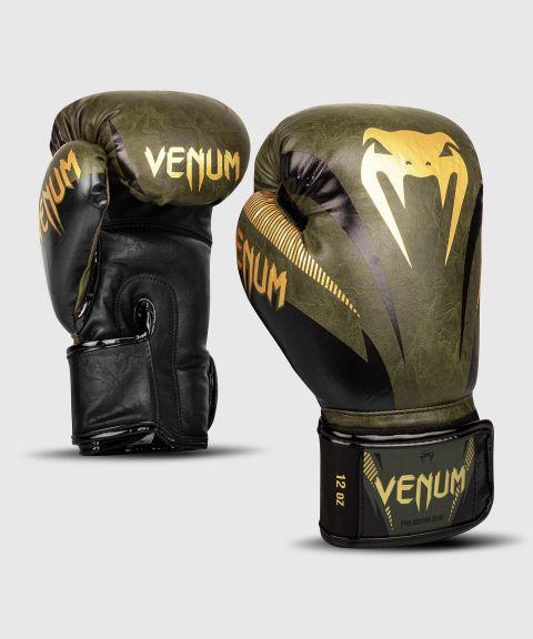 Gants de boxe Venum Impact - Kaki/Doré