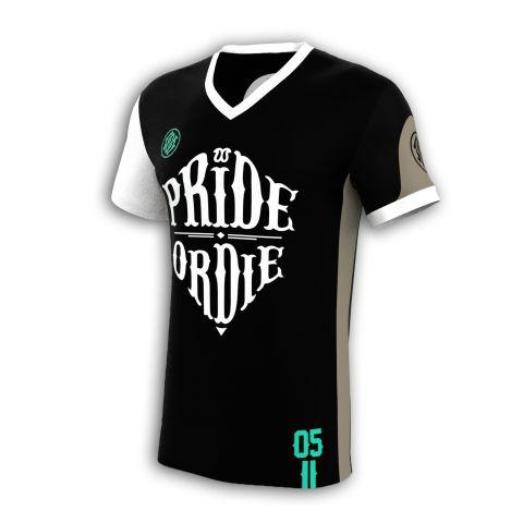 T-Shirt AllSports PRiDEorDiE Reckless 05 - Noir