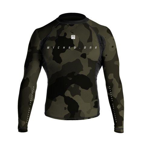 T-Shirt de compression Wicked One Cloze - Manches Longues - Kaki