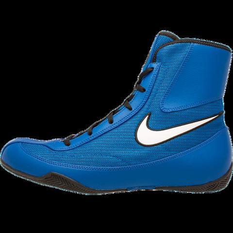Chaussures de boxe semi-montantes Nike Machomai 2  - Bleu/Blanc
