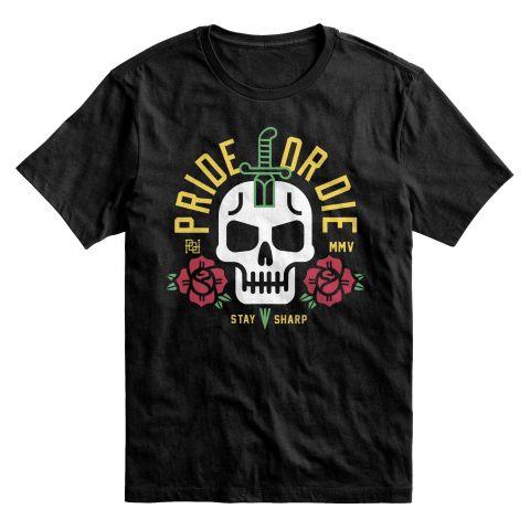 T-Shirt Pride or Die Stay Sharp - Noir