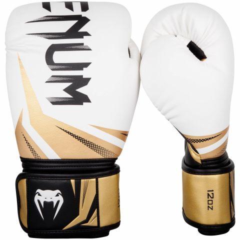 Gants de boxe Venum Challenger 3.0 - Blanc/Or