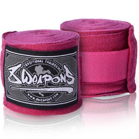 Bandages de boxe semi-élastique 8 Weapons - 5 mètres - Violet