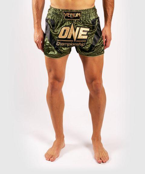 Shorts de muay thai Venum x ONE FC - Kaki/Doré