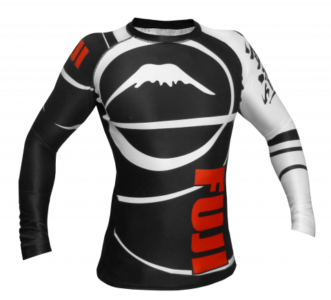 Rashguard Fuji Sports Freestyle IBJJF Ranked - Manches longues - Noir