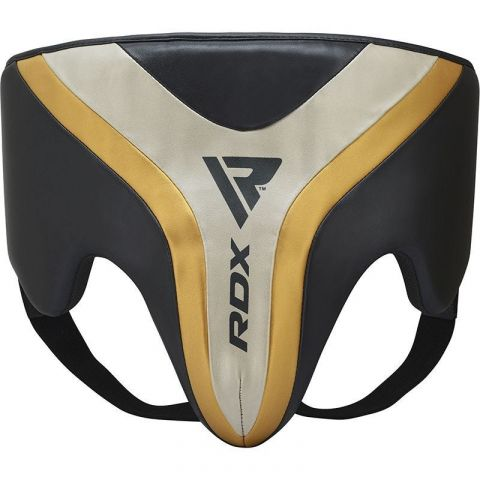 Coquille de boxe RDX Sports Aura T-17 - Noir/Blanc/Or