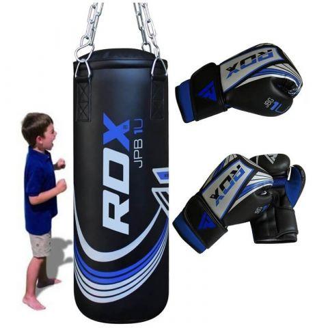 Sac de frappe enfant RDX Sports + Gants de Boxe Junior - Noir