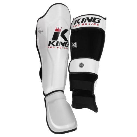 Protège-tibias King Pro Boxing - Blanc