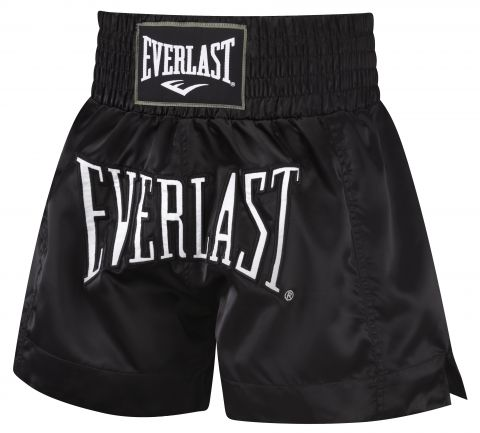 Short de Muay Thai Everlast - Noir/Noir