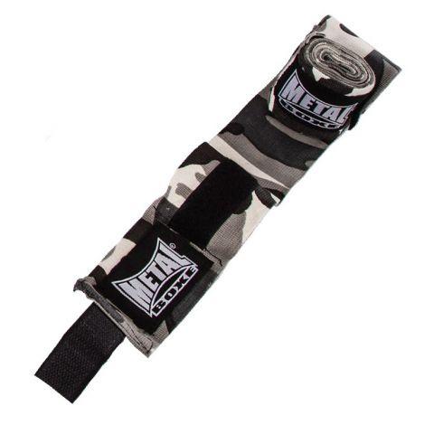 Bandages de boxe Metal Boxe - Camo Gris - 4 mètres