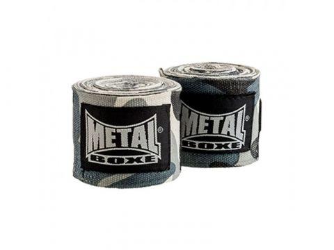 Bandages de boxe Metal Boxe - Camo Gris - 2,5 mètres