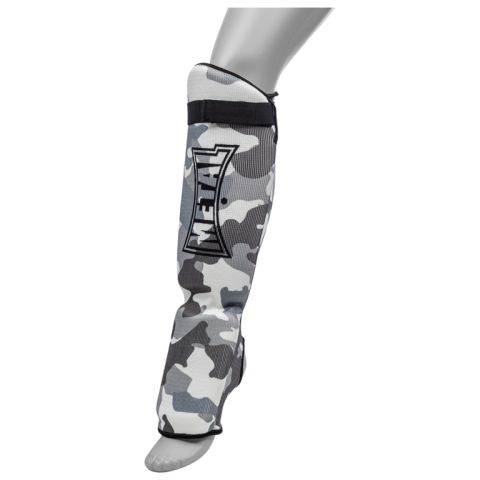 Protège-Tibias et Pieds Metal Boxe Army - Gris