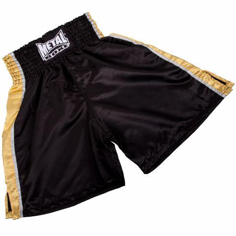 Short de boxe anglaise Metal Boxe - Noir