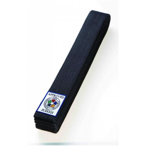 Ceinture de Judo Obi noire Mizuno FIJ