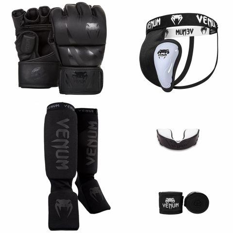 Pack MMA Venum Challenger V2 - Noir/Noir