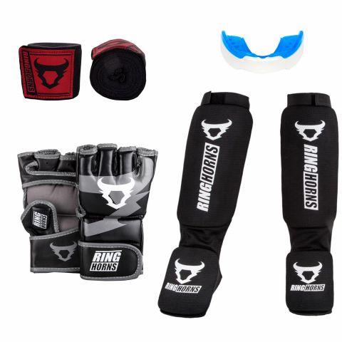 Pack MMA Ringhorns - Noir/Blanc