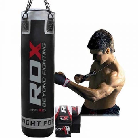 Sac de frappe RDX Sports Noir - 150 cm - Plein