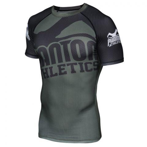 Rashguard Phantom Athletics Supporter - Vert/Noir - Manches courtes