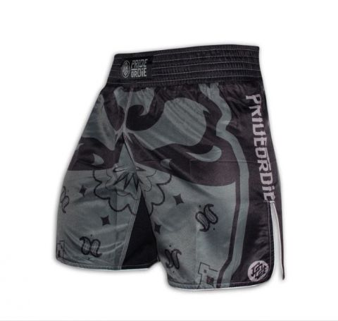 Fightshort Pride or Die Ruthless - Noir