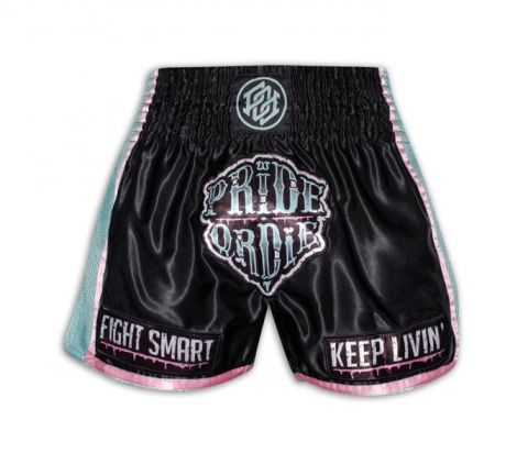 Short de Muay Thai Pride or Die Z-Camp - Noir